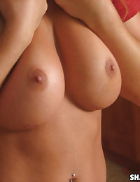 Horny busty girlfriend shows off her big tits and tight pussy for her boyfriend