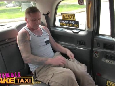 Female Fake Taxi Busty squirting babe fucked and facialised