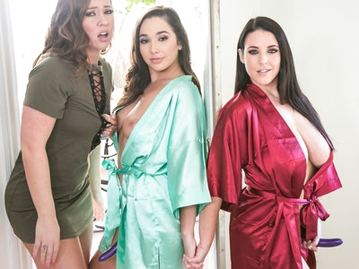 Maddy O'Reilly gets DP'd by Angela White and Karlee Grey.