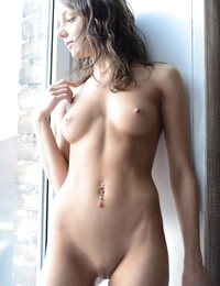 It does not get better than this when it comes to nude slim babes. This brunette cutie shows what perfection is.