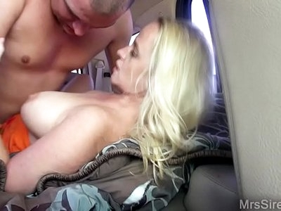Wife Fucks While Hubby Drives