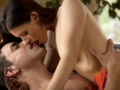 Weeping figs, white blooms and a summer's day set the stage for this classic Babes scene.  Parting her folds with his tongue, Ryan's oral attention to India's intimate cleft has her bucking with heat, his expression a testimony to the pleasure India's moist mouth returns. A fine bit of erotica, well worth watching.