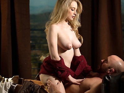 New to babes.com, the beautiful and voluptuous Stacie Jaxxx aims to impress in this sensual couples scene.
