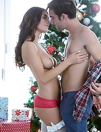 Has August Ames been naughty or nice this year? Take a look at this hot scene with Logan Pierce to see how good it is to be bad! Logan walked into the living room to find her shaking her presents under the tree, and peeking to see what was what. When he saw her bent over the pile of gifts, he just had to have her right then and there. Enjoy the passionate sex in this steamy couples porn, because the sex doesn't get any hotter than this!