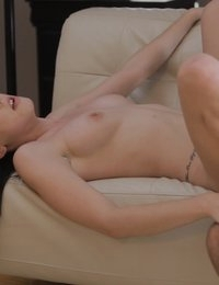 Hannah Lay gets her horny bald pussy pounded and shows off her blow job skills after a successful casting interview