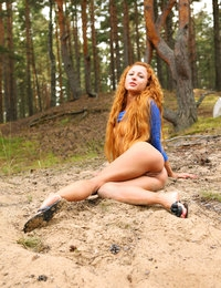 Redhead Nancy is superb in her outdoor solo scene