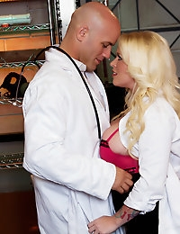 Angel Vain has a thing for hot doctors and Derrick Pierce takes full advantage of her huge tits and sweet ass.
