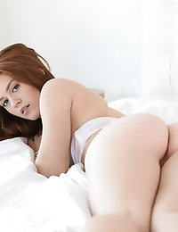 Teeny redhead gets tight pussy stretched out