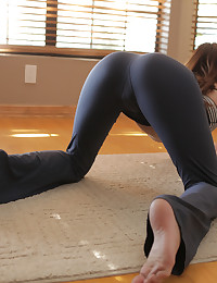 A yoga session turns into raunchy masturbation when brunette babe Jayden Taylors cant keep her hands off her needy pussy