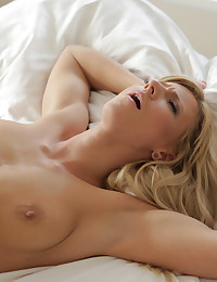 Juicy European hottie Nathaly teases her man awake to receive a warm wet blowjob and a hard raunchy stiffie ride