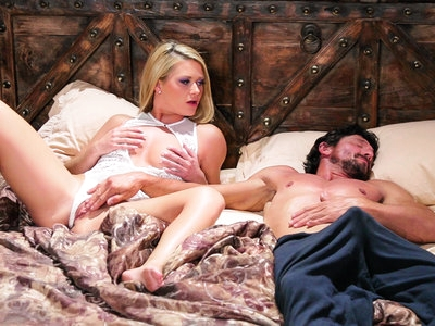 Abby Cross rides her step-dad like a little nymphette !