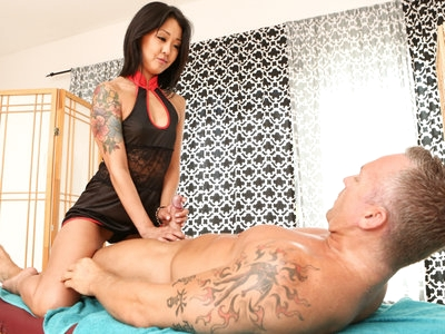 Sexy Asian Saya Song fucks & squirts from her hairy pussy.