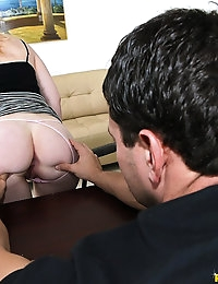 Pucker Up Blakely Quinn Hot horny blonde girl with nice ass and great tits get her fat ass pounded with a huge cock @ FirstTimeAuditions photo #2