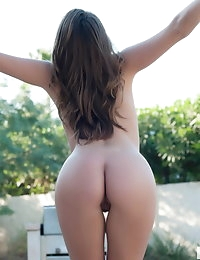 Devine One Tori Black shows off her perfect round ass outdoors completely in the nude photo #10