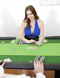 Hardcore Fuck with a Hot Poker Dealer photo #1