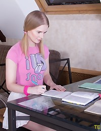 Hottie changes studying for fuck photo #1