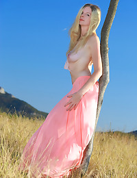 Nude slender blonde photo #2
