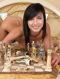 Sexy chess game with brunette photo #20