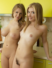Lesbians in the kitchen photo #16