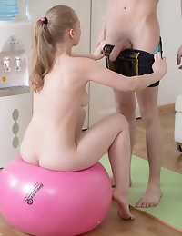 Sweet cutie humped by huge dick photo #8