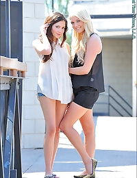 Blonde and Brunette photo #7