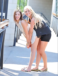 Blonde and Brunette photo #8