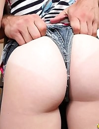 First Time Auditions  - Aubrey sweet first time Hot Amateur babes with huge asses big tits photo #3