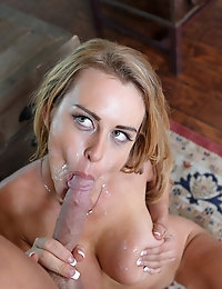 Sexy business woman gets a special delivery of cock and orgasms from errand boy Johnny. photo #8