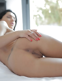 After a slow, sensual shower Honey is nice and wet from her man to just slide right in photo #14