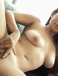 Hot girl with big tits worships her friend's big dick photo #12